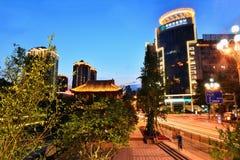 街市成都市,四川中国 免版税库存图片