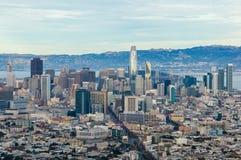 街市旧金山看法  库存图片