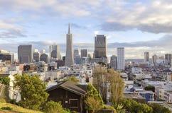 街市旧金山鸟瞰图  免版税图库摄影