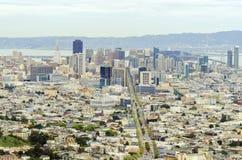 街市旧金山鸟瞰图  库存照片