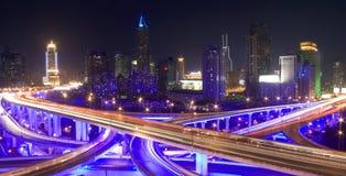 街市晚上上海 免版税库存图片
