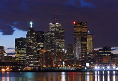 街市晚上多伦多 免版税库存照片