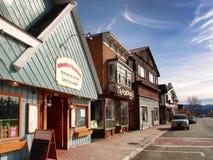 街市普莱西德湖城 免版税库存照片