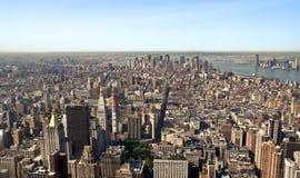街市曼哈顿中间地区全景 库存图片