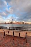 街市曼哈顿地平线 免版税库存照片