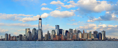 街市曼哈顿地平线 库存照片