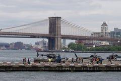 街市曼哈顿直升机场50 库存照片