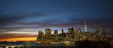街市曼哈顿Sunsett 图库摄影