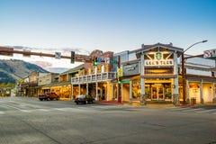 街市杰克逊Hole在怀俄明美国 免版税图库摄影