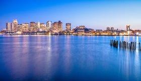 街市波士顿的图,美国 库存照片