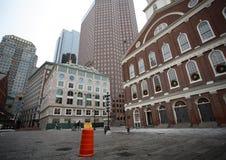 街市波士顿的大厦 免版税库存图片