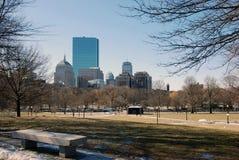 街市波士顿的大厦 免版税库存照片