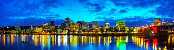 街市波特兰都市风景 免版税图库摄影