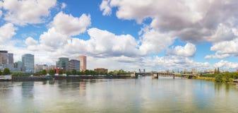 街市波特兰都市风景 库存图片
