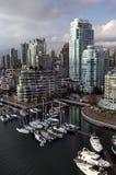 街市温哥华 免版税图库摄影