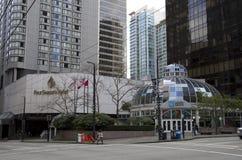 街市温哥华 免版税库存图片