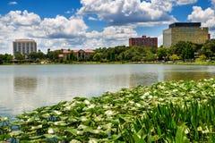 街市湖水地区,佛罗里达 免版税图库摄影