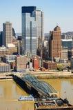 街市的匹兹堡 免版税库存图片