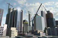 街市的发展 免版税库存照片
