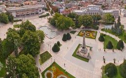 街市的市的看法鲁塞从上面 库存照片