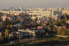 街市的布加勒斯特 库存照片