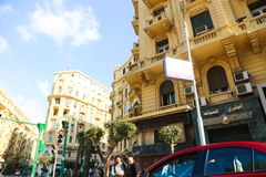 街市的开罗 免版税库存图片