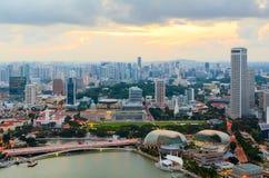 街市的新加坡 免版税库存图片