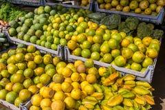 从街市的果子 库存图片