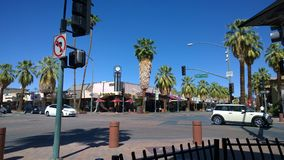 街市的棕榈泉 免版税库存照片