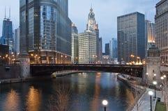 街市的芝加哥 库存照片