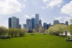 街市的芝加哥 免版税库存图片