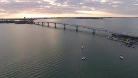 街市的萨拉索塔,佛罗里达的鸟瞰图 股票视频