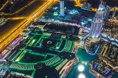 街市的迪拜。东部,阿联酋建筑学 图库摄影