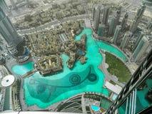 街市的迪拜从上面 免版税库存照片