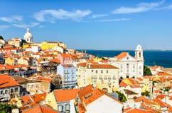 街市的里斯本,葡萄牙 库存照片