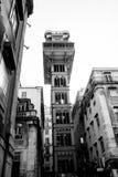 街市的里斯本;圣诞老人Justa电梯 图库摄影