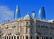 街市的巴库,阿塞拜疆 免版税库存图片