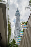 从街市看法的东京Skytree 库存图片