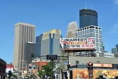 街市米尼亚波尼斯在明尼苏达 免版税图库摄影
