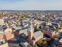街市约克,在历史的分配旁边的宾夕法尼亚天线  免版税图库摄影