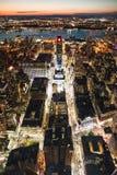 街市纽约在晚上 免版税库存图片