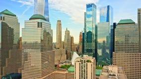 街市纽约地平线空中寄生虫英尺长度  股票视频