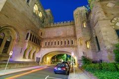 街市纽黑文和耶鲁大学 免版税库存图片