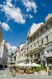 街市老中心在布加勒斯特 库存图片