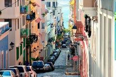 街市老的圣胡安 库存图片