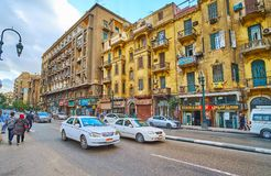 街市老街道,开罗,埃及 库存图片