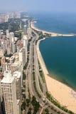街市芝加哥在夏日 免版税库存图片