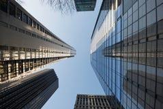 街市芝加哥新的老摩天大楼 图库摄影