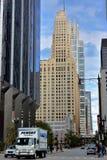 街市芝加哥街道和摩天大楼 库存图片
