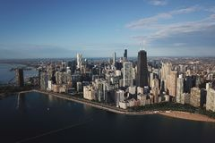街市芝加哥视图 免版税图库摄影